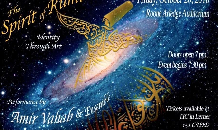 نفس مولانا، هویت از طریق هنر: شامل موسیقی اصیل از خاورمیانه با اجرایی از امیر وهاب و گروه