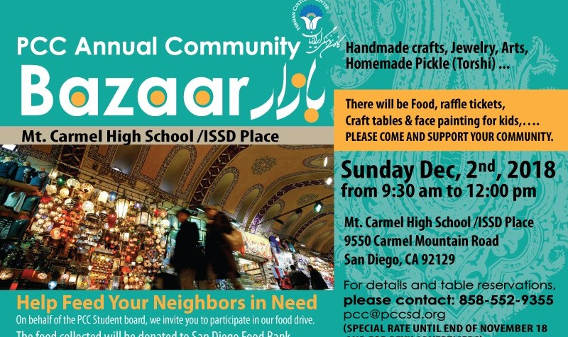 Community Bazaar and Food Drive