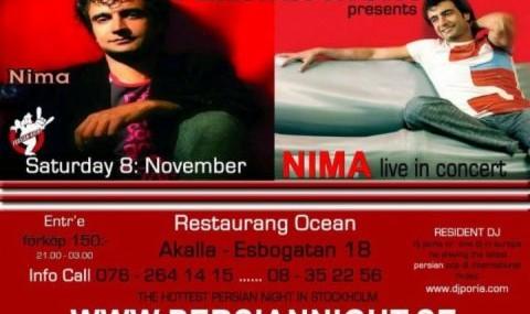 کنسرت نیما در استکهلم