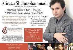 Alireza Shahmohammadi: Norouz Persian Classical Music Workshop and Concert