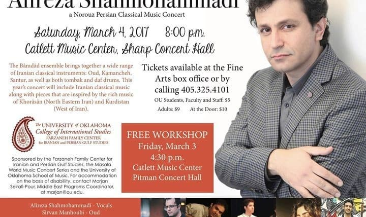 Alireza Shahmohammadi: Norouz Persian Classical Music Workshop and Concert