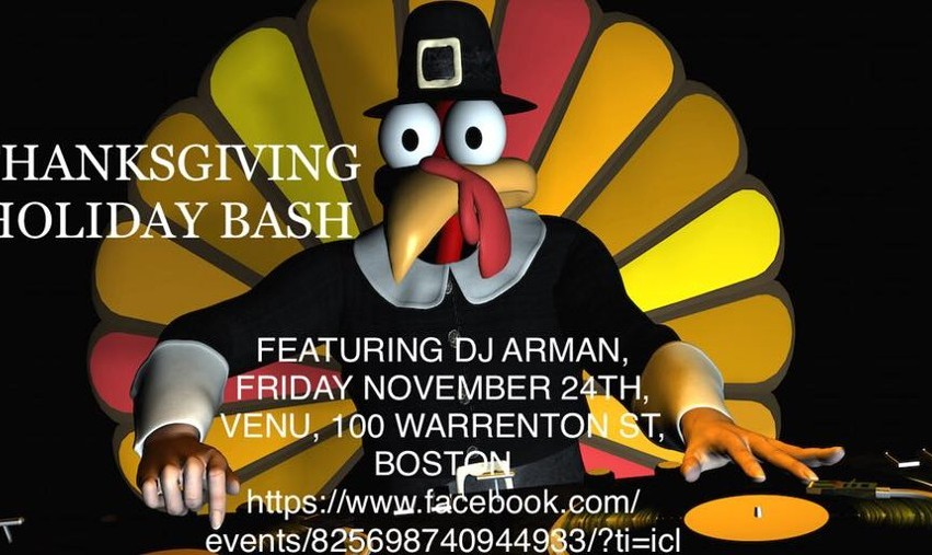 Thanksgiving Holiday Bash with DJ Arman