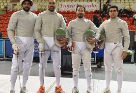 تیم ملی شمشیربازی سابر ایران موفق به کسب مدال نقره قهرمانی آسیا شد