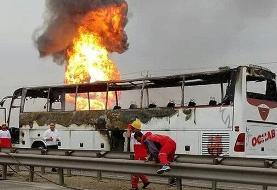 سومین  تصادف  مرگبار اتوبوسی در ایران در ۲۴ ساعت: واژگونی اتوبوس در استان یزد / ۵ کشته و ۲۸ مصدوم