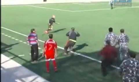Rare scenes in football (video)