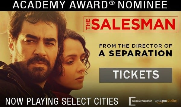 Bay Area Screening of THE SALESMAN, Academy Award Nominee by Asghar Farhadi