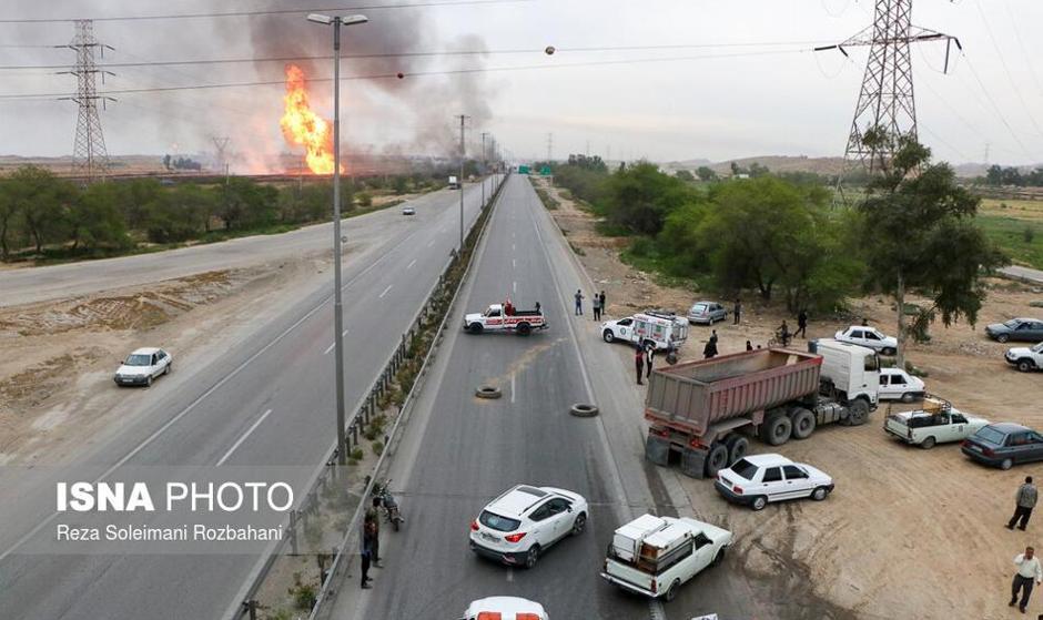 خط لوله گاز اهواز به رامهرمز منفجر شد: ۱۱ کشته و زخمی / آخرین تصاویر