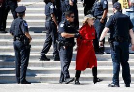 امکان حبس جین فوندا به دلیل اعتراض به تغییر اقلیم