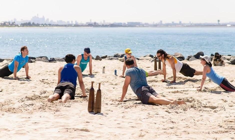 Persian Yoga on the Beach at Las Palmas
