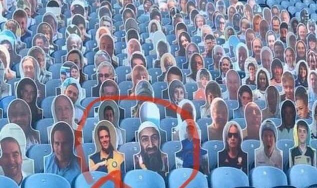 تصویر عجیب در لیگ برتر انگلیس: بن لادن در میان هواداران!