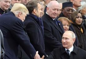 رسانه روس: زبان اشاره میان پوتین و ترامپ در پاریس