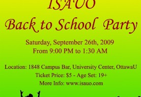 ISAUO Back to School Party
