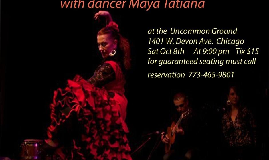 Mehran Flamenco quintet with dancer Maya Tatiana
