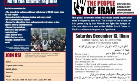 Hands Off the People of Iran!