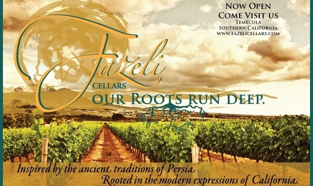 Fazeli Cellars: First S. California Winery Inspired by Persian Traditions