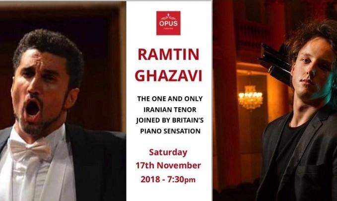 کنسرت رامتین قضوی، تنور ایرانی و الیور پول پیانیست و آهنگساز مشهور انگلیسی
