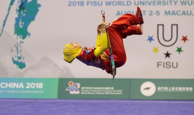 As in Science Fiction Movie: Iranian Wushu Athlete Defies Gravity ...