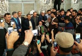 (ویدئو) احمدی نژاد با کنایه به آملی لاریجانی: مردم به خدا بچههای من جاسوس نیستند، برادرانم زمین خوار و وارد کننده دارو نیستند