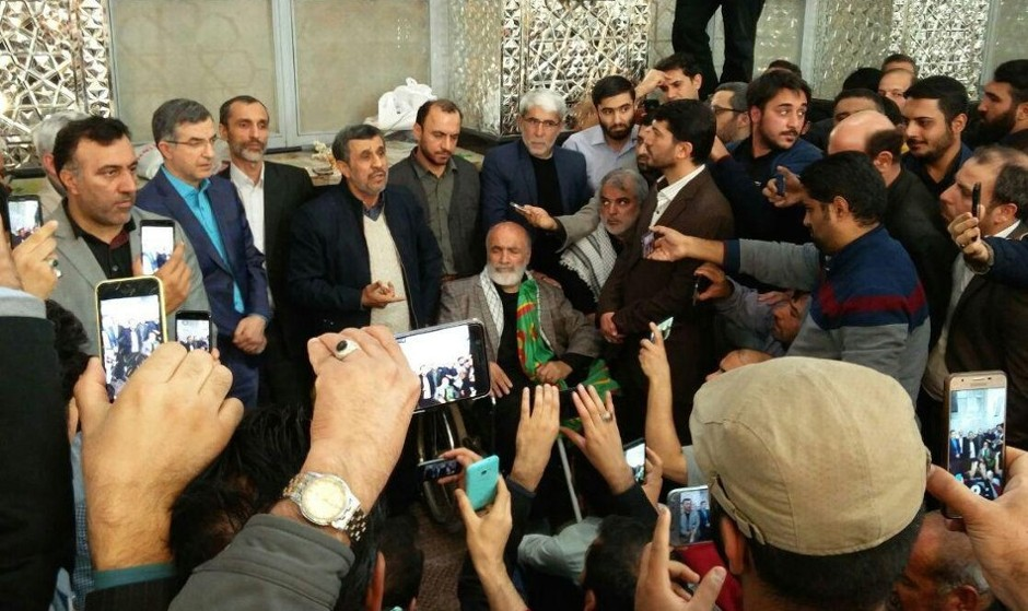 (ویدئو) احمدی نژاد با کنایه به آملی لاریجانی: مردم به خدا ...