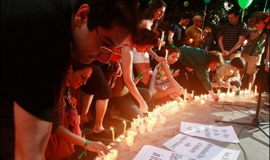 Candlelight vigil in Solidarity with People of Iran