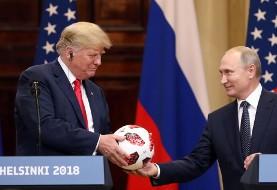 بلومبرگ: توپ اهدایی پوتین به ترامپ حامل تراشه انتقال اطلاعات از تلفن های همراه نزدیک بود!