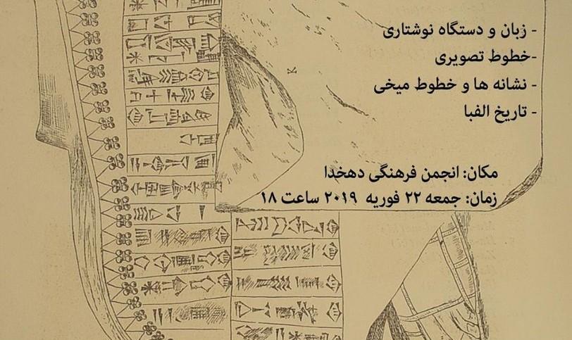 تاریخ خط از آغاز; بررسی تاریخ خطوط تصویری و میخی