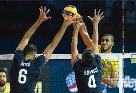 حذف راحت تیم ملی والیبال مردان ایران از لیگ ملت ها در شیکاگو