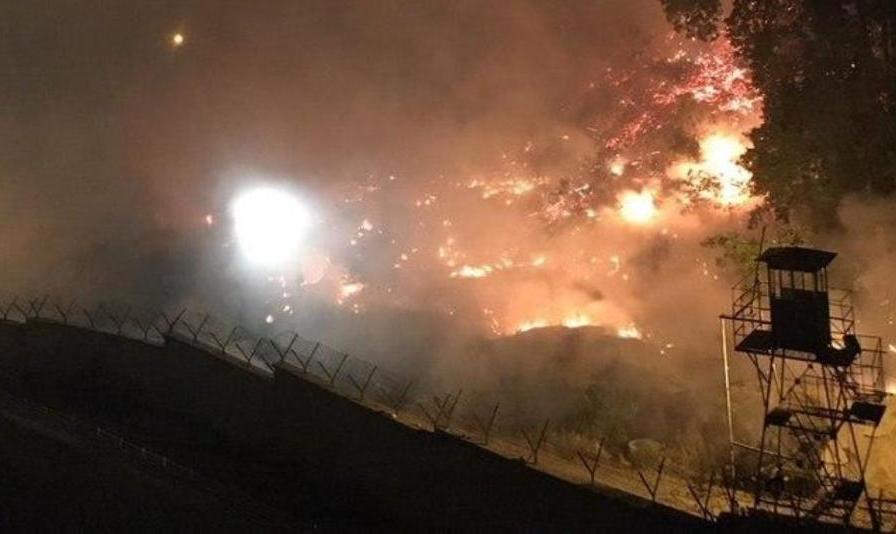 اینبار آتش به جان فضای سبز زندان اوین افتاد! ببینید: آتشسوزی جدید شبانه تهران