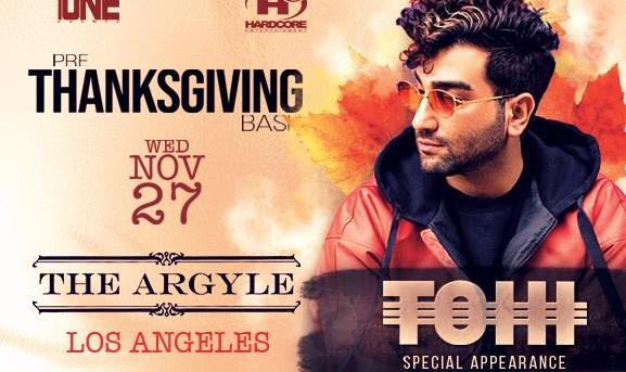 Pre-Thanksgiving Persian Bash w/Special Guest TOHI