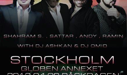 Andy, Sattar, Shahram Solati and Ramin in Concert