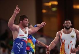 کشتی آزاد قهرمانی جهان: پرویز هادی قهرمان ترک المپیک را از پا درآورد