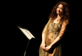 Sholeh Wolpé performs The Conference of the Birds with Santoor by Siavash Sadr