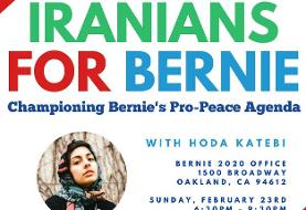 Iranians for Bernie Sanders ۲۰۲۰, with Tea and Sweets