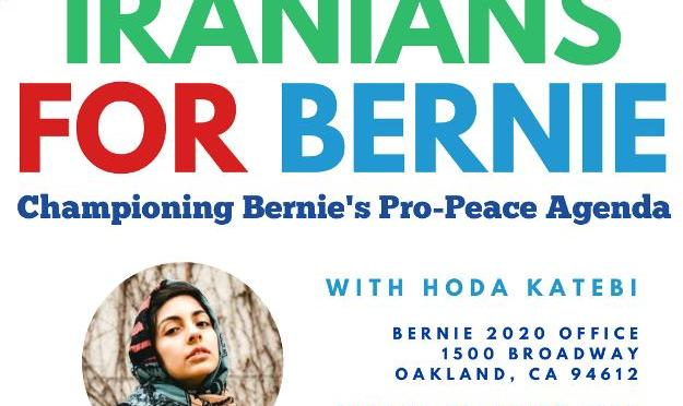 Iranians for Bernie Sanders 2020, with Tea and Sweets