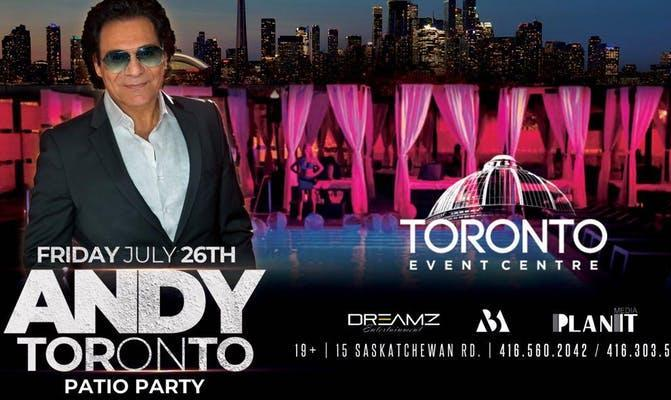 Andy Live in Toronto's Large Persian Patio Party: SPECIAL PROMOTION
