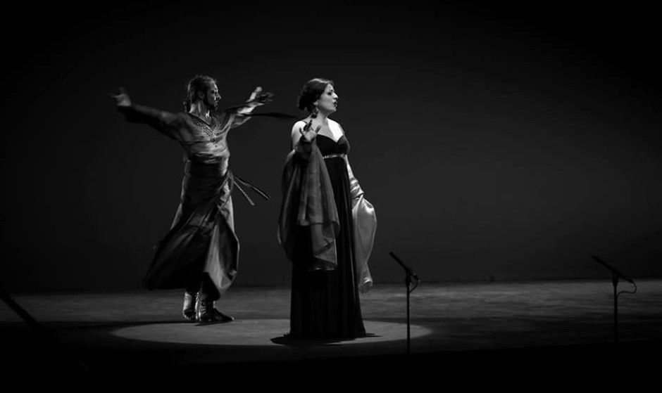 Shirin Majd & Shahrokh Moshkin Ghalam in Rebirth, inspired by the poetry of Forough Farrokhzad