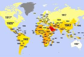 نقشه: در کدام سال زنان کشورهای مختلف و ایران حق رای پیدا کردند