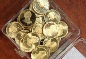 کاهش تقاضا قیمت سکه را پایین کشید