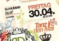 DJ Human and Poria in Persian Deluxe Party