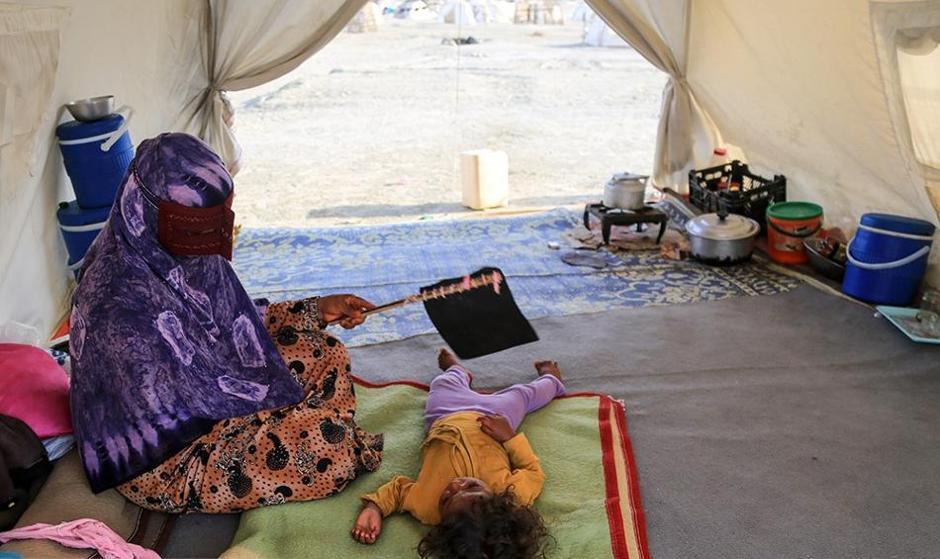 مرگ یک نوزاد ۹ روزه به علت گرما در هرمزگان/ تصاویر: جولان گرما، عقرب و رتیل در کمپ سیل زدگان هرمزگان