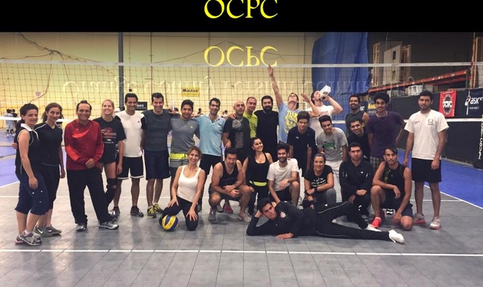 شب والیبال داخل سالن جامعه ایرانیهای اورنج کانتی