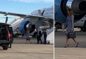 نقص فنی در هواپیمای ملانیا ترامپ
