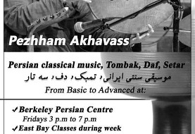 Classical Music: Tombak, Daf and Setar Lessons