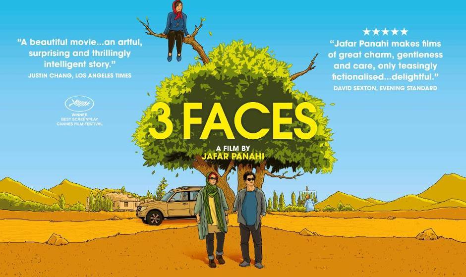 نمایش فیلم ۳ رخ جعفر پناهی برنده جایزه فستیوال کن در شهرهای بریتانیا