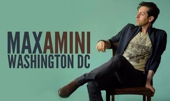 مکس امینی، شب کمدی صحنه در واشنگتن