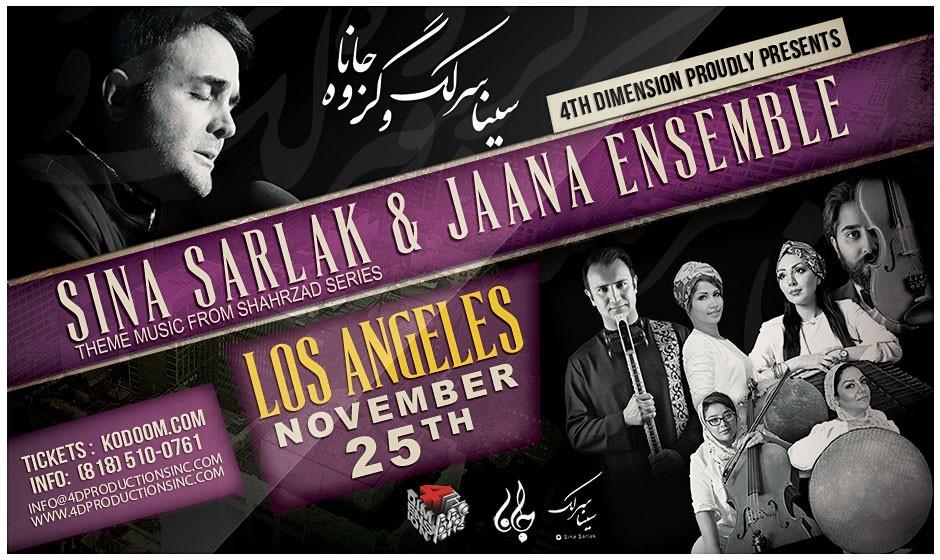 Sina Sarlak & Jaana Ensemble Live in Los Angeles