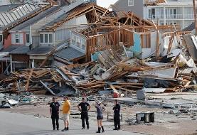 فیلم خسارات شدید توفان مایکل در آمریکا با بادهایی با سرعت ۲۵۰ کیلومتر در ساعت