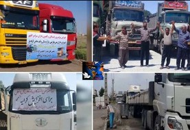 A group of truckers resume strike in Iran