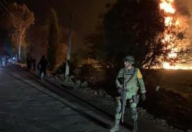 حضور نظامیان در پی انفجار خط لوله نفت در مکزیک با بیش  از ۱۰۰ کشته و زخمی: قربانیان از خط لوله در حال نشت سوخت جمع می کردند
