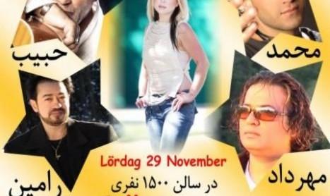 Habib, Mohammad, Sheila, Ramin, Mehrdad Javid Live in Stockholm